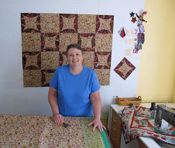 NM in her studio